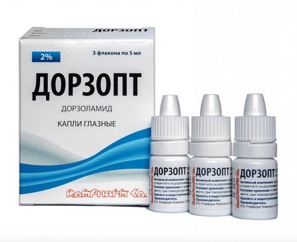 Дорзопт глазные капли: применение, дозировка, противопоказания