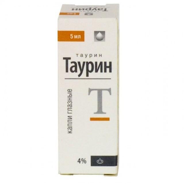 Глазные капли Таурин: описание, применение, противопоказания