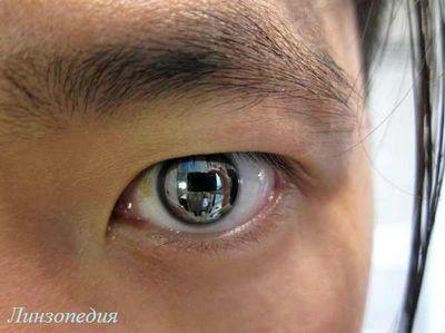 Зеркальные контактные линзы для глаз, линзы Риддика