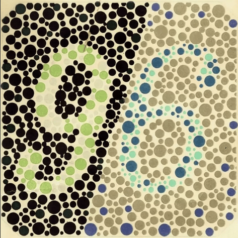 Таблицы Рабкина: тест на дальтонизм (нарушений цветовосприятия)онлайн