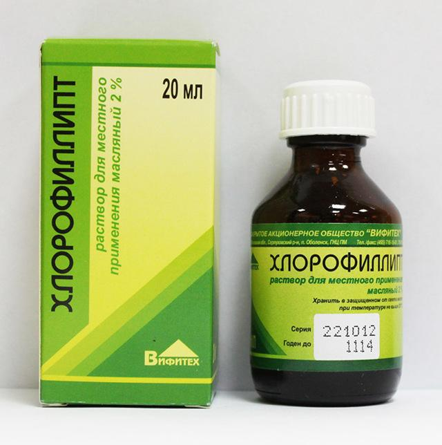 Хлорофиллипт при отите: инструкция по применению